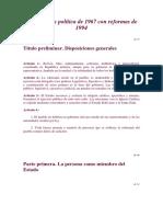 Constitucion de 1967 Con La Reforma de 1994