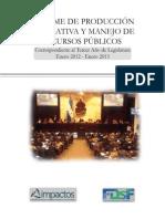 Informe de Produccion Congreso Nacional 2012-2013