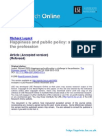 Happiness and public policy Prof Layard