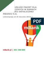 Warunki Uslugi Pakiet w mBanku25!01!2014