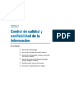 Cap Vii.- Control de Calidad y Confiabilidad de La Informacion