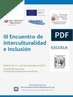 Programa III Encuentro de Interculturalidad e Inclusion