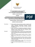 Keputusan Menteri Pekerjaan Umum Selaku Ketua Tim Pelaksana Badan Koordinasi Penataan Ruang Nasional Nomor