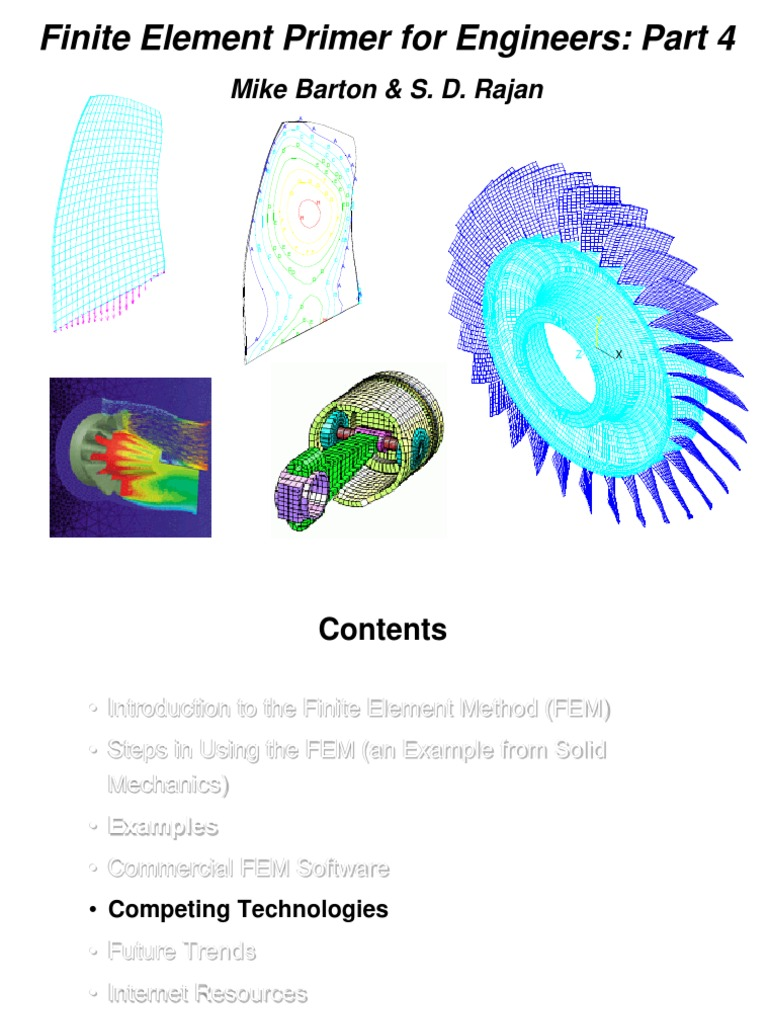 Finite Element Primer for Engineers: Part 4: Mike Barton