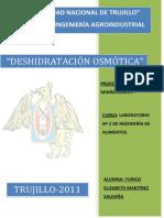 LABO 2. DESHIDRATACION OSMÓTICA