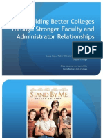 Building Better Colleges Through Stronger Faculty and Administrator Relationships