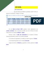 Ejercicio 9 de Excel