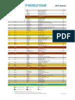 Calendario ATP 2014