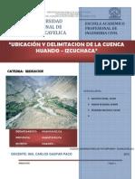 UBICACIÓN Y DELIMITACION DE LA CUENCA