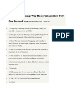 Language Learning- Why Most Fail and How Can You Succeed