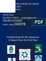 Transforming the ESL Sequence