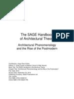 Architectural Phenomenology
