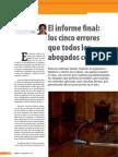 3-El Informe Final. Los 5 Errores Que Todos Los Abogados Cometen IURIS Nov 2012