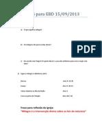 Atividades Para EBD 15-09