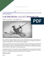 2 Cm Flak 38 Geb._ a.a._a.T