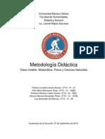 Didactica General Grupo Ciencias Naturales y Matematicas