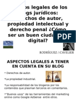 Aspectos Legales de los Blogs