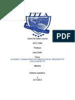 acceder y administrar documentos en el servidor ftp con cliente ftp