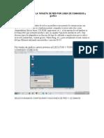 configurar la tarjeta de red por linea de comandos