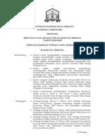 Peraturan Daerah Kota Serang Nomor 6 Tahun 2011 Tentang Rencana Tata Ruang Wilayah Kota Serang Tahun 2010 - 2030