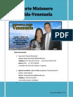 REPORTE MISIONERO DE MERIDA VENEZUELA