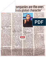 Fredrick Haren India Press Interview - DNA, 18th Nov, 2013