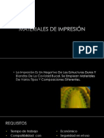 MATERIALES DE IMPRESIÓN