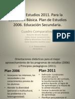 Sesión 1. Cuadro comparativo. Plan de Estudios 2006 y 2011