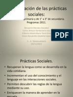 Sesión 3. Secuenciación de las prácticas sociales