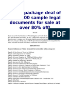 super package of over 200 sample documents for california and federal litigation