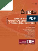 Lenguaje y Educacion Perspectivas Metodologicas y Teoricas Para Su Estudio