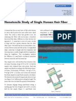 Nanotensile Study of Single Human Hair Fiber