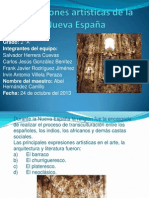 Expresiones artísticas de la Nueva España
