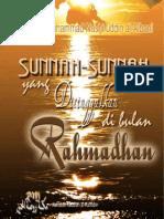 Sunnah Sunnah Yg Ditinggalkan di bulan Ramadhan