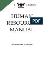 Makerere University Old Human resource Manual