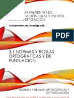 Fundamentos de Investigación - Herramientas de comunicación oral y escrita en la investigación.
