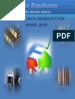 MCX Commodity Latest News By Theequicom 22-November