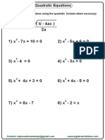 Quadratic Formular