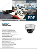 Avtron Vari focal IP Network Dome Camera Am Wd6016 Vm PDF