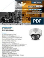Avtron IR vari Focal IP Network Dome Camera Am Wd6016 Vmr1 PDF