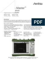 Anritsu MS2712E Spectrum Master - Spectrum Master MS2712E Technical Data Sheet