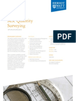 MSc Quantity Surveying