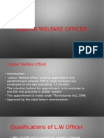 Labor Welfare Officer