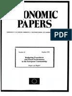 Budgeting Procedures and Economic Performance in EU Hagen