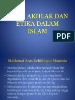2 Adab, Akhlak Dan Etika Dalam Islam