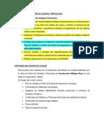 Obligaciones Del Jefe de Calidad y Protocolos