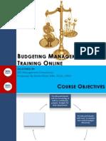 Budget Management Online Training