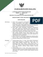 Peraturan Daerah Kabupaten Malang Nomor 3 Tahun 2010 Tentang Rencana Tata Ruang Wilayah Kabupaten Malang