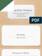 Writing Better Sentences