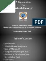Whistleblower- Manjunath